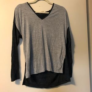 Madewell grey long sleeve tee size small